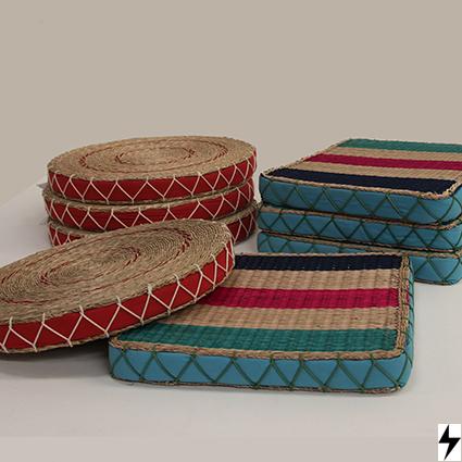 Textiles banderas siete rayos - Cojines redondos ...